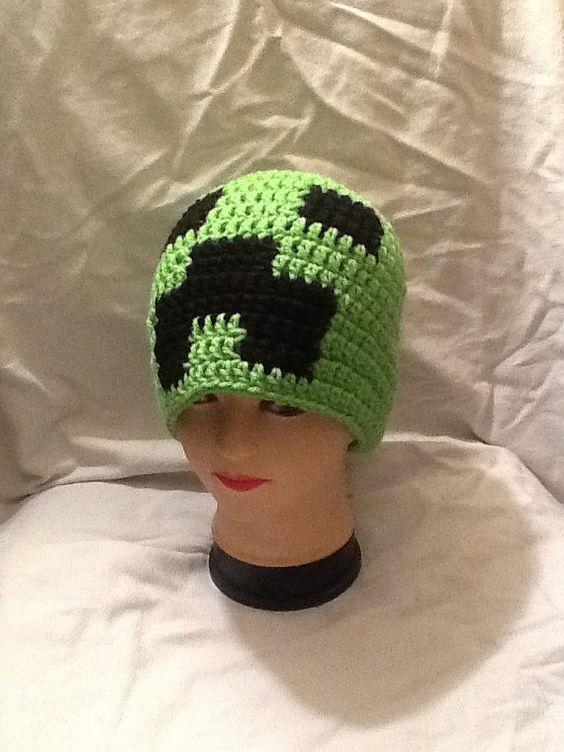 Free Crochet Pattern For Minecraft Beanie Traitoro For