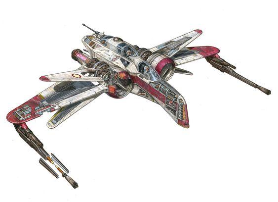 Les découpes des vaisseaux Starwars de Hans Jenssen
