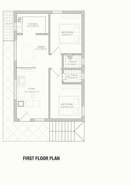 North Face Plan For House 30x40 Feet Area Home Designs Interior Decoration Ideas In 2020 House Plans North Facing House 20x40 House Plans