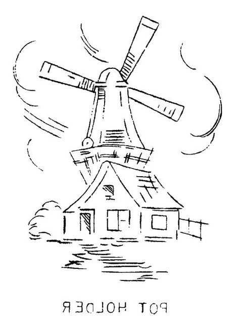 Pot Holders Windmills And Embroidery Designs On Pinterest