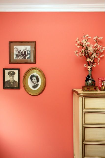 "That paint color!!!!! <3 <3 <3   Behr - ""Youthful Coral"""