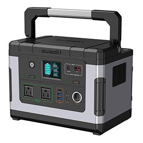 Suaoki Solar Generators G500 Portable Power Station 500w Https Www Amazon Com Dp B07bdcd9bq Ref Cm Sw R In 2020 Power Station Camping Generator Solar Generators