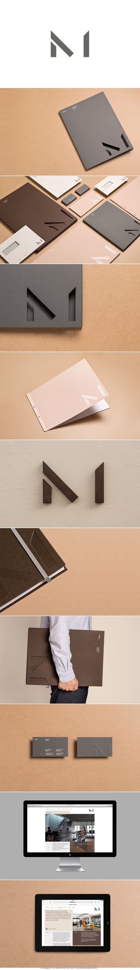 """love the simple unfinished shape here that your brain completes to see the letter """"M""""."""