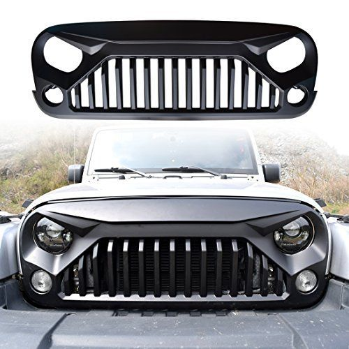 Iparts Matte Black Gladiator Vader Front Grille Accessories For Jeep Wrangler 2007 2008 2009 2010 2011 2012 2013 2014 2015 2016 2017 Rubicon Sahara Sport Jk Jku 2007 Jeep Wrangler Jeep Wrangler Jeep Wrangler Lifted