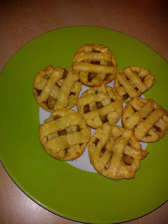Tartaletas de manzana con canela