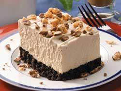 Frozen Peanut Butter Squares #Dessert #Recipe
