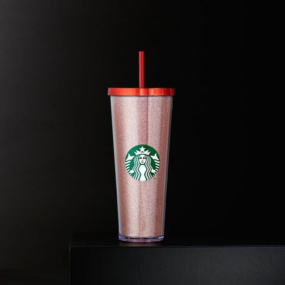 A Sturdy, Venti-size Plastic Cold Cup Covered With Red
