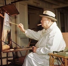 winston churchill essay on painting It was late summer 1939 winston churchill, then a member of the british parliament, and artist paul maze were leisurely painting at their easels by a babbling brook in the french countryside suddenly, a young messenger boy came running across the field, clutching a telegram situation worsening, it.