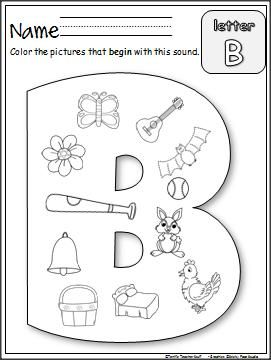 Beginning B Sounds worksheet is an easy and fun way to practice ...