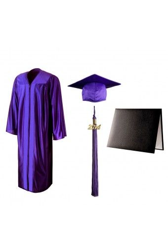 Shiny Purple Cap, Gown, Tassel & Stole | graduation 2014 ...