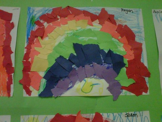 Teach your child about mosaics. Devise a design and then create your mosaic. A great rainy day activity from KinderCare.