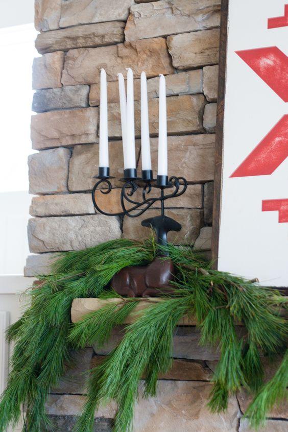 Deer candle holders