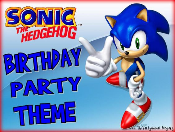 Sonic the Hedgehog Birthday Party Theme | ThePartyAnimal-Blog Great game ideas