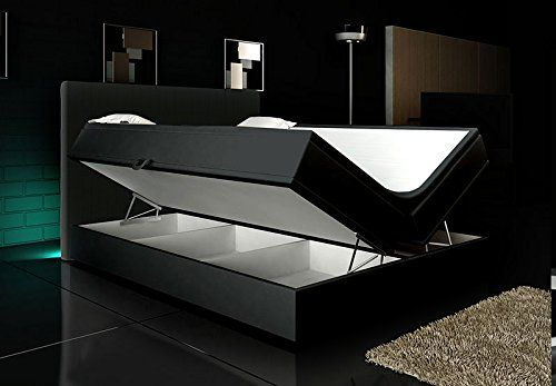 boxspringbett schwarz lift 180x200 inkl. 2 bettkästen hotelbett, Hause deko