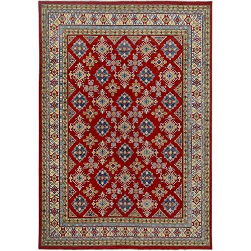 Stunning Red All Over Pattern Geometric Super Kazak Area Rug Wool Hand Knotted Oriental Carpet 9x12 9 0 X Wool Area Rugs Handmade Area Rugs Area Rug Decor
