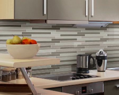 Pencil tiles kitchen reno ideas pinterest splashback for Sink splashback ideas
