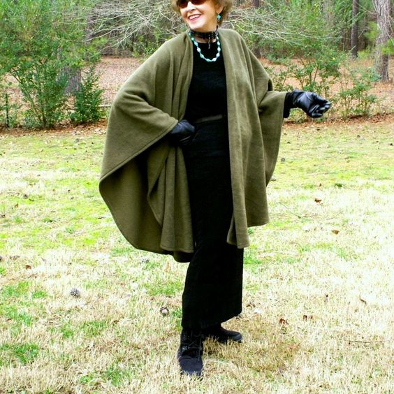 Olive Green Anti Pill Fleece Wrap, Shawl, Cape, Shrug or Ruana--One Size Fits Many by YoungbearDesigns on Etsy