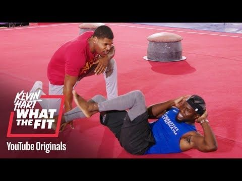 Trainer Ron Boss Everline Shows Kevin Hart How Simple At Home Workouts Can Sculpt Anyone S Core To Olympian Level S Going For Gold Kevin Hart At Home Workouts