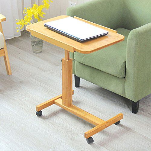 Amazon Com Cleave Waves U Shaped Wood Side Table Portable Snack Cart Tray Computer Standing Desk With Side Tables Bedroom Home Office Furniture Home Furniture