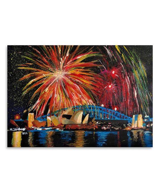 Another great find on #zulily! Sydney Fireworks Wall Art by M. Bleichner #zulilyfinds