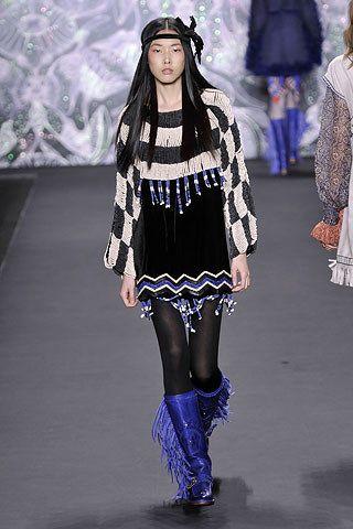 Anna Sui Fall 2008 Ready-to-Wear Fashion Show - Han Jin