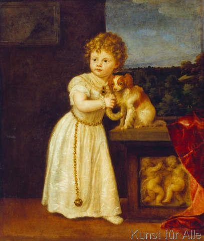Tizian - Clarissa Strozzi im Alter von 2 Jahren (68,0 x 80,0 cm)