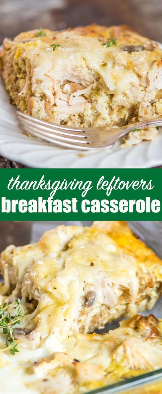 Take turkey and stuffing leftovers and turn it into this savory Thanksgiving Leftovers Breakfast Casserole. Make it ahead and refrigerate overnight or bake it right away. #thanksgivingleftovers #turkey #stuffing #breakfast #casserole via @tastesoflizzyt