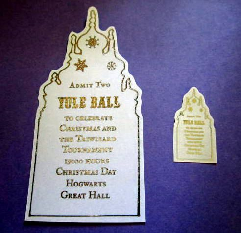 Mini Witch or Wizard Yule Ball Ticket Replica by LegendaryLetters - ball ticket template