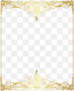 Vetor De Padrao De Moldura Dourada Flower Png Images Gold Pattern Gold Wallpaper Background