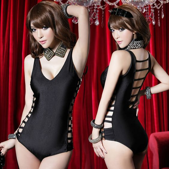 Modern Siamese costumes sexy costumes hollow performance clothing