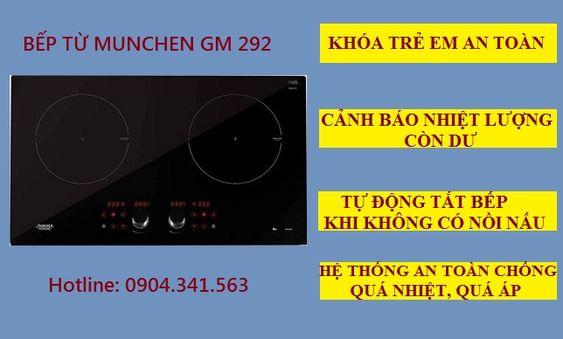 Một số chức năng an toàn trên bếp từ Munchen GM 292