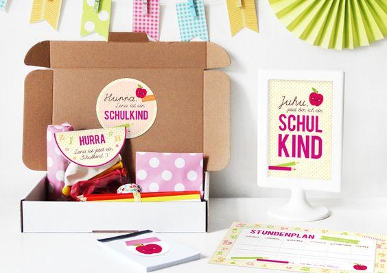 Glückwunschkarten - Einschulungsbox | Geschenkbox Buchstabensalat Pink - ein Designerstück von naehfein-berlin bei DaWanda