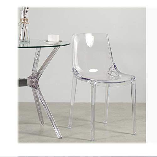 Lrzs Furniture Nordic Transparent Chair Acrylic Plastic Backrest Leisure Chair Simple Modern Dining Chair Crystal Chair Dev Transparent Chair Ghost Chair Chair