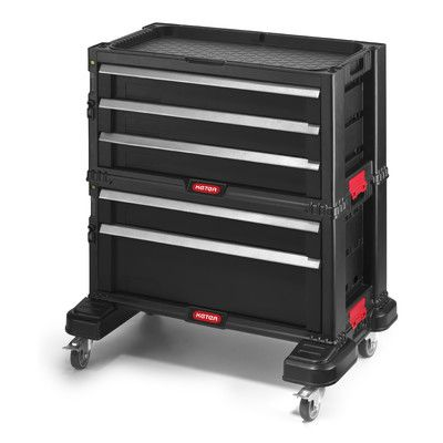 Keter Tool Chest System 22 1 Quot Wide 5 Drawer Service Cart