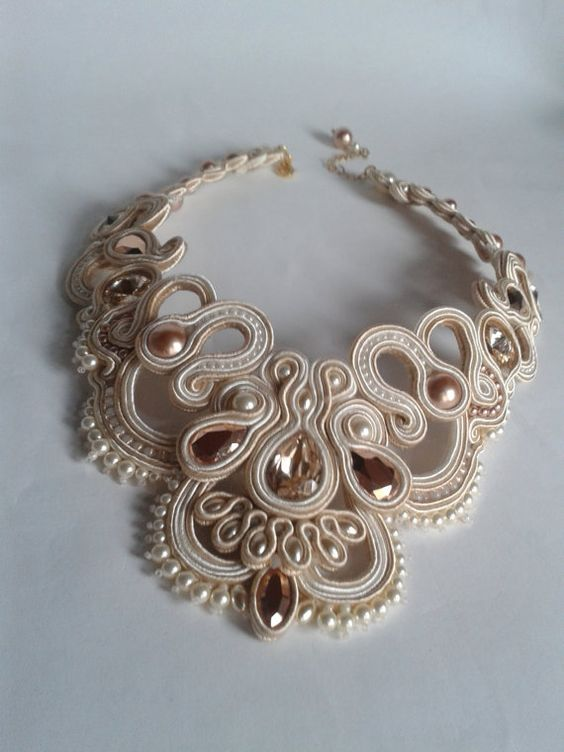 Adagio Necklace - OOAK SOUTACHE NECKLACE: