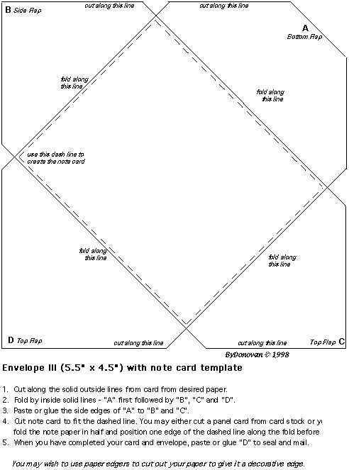 Free Envelope Templates  Dozens Of Them  Cards And CutUps