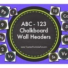 Only way to bring chalkdust into your classroom these alphabet number