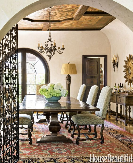 33 chic and elegant kitchen tables spanish barcelona - Dining room spanish ...