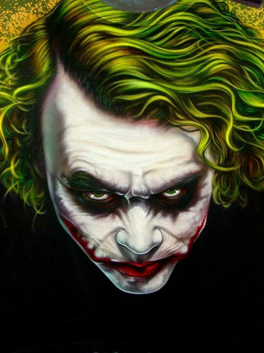 Airbrush Joker Wallpaper: Jokers, Heath Ledger And Joker Heath On Pinterest
