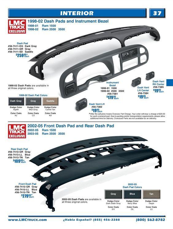 2002 Dodge Ram 1500 Dashboard Replacement : dodge, dashboard, replacement, Ernest, Marcantel, Truck, Accessories,, Dodge