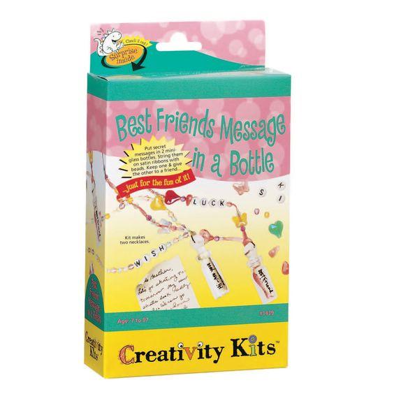 Creativity for Kids Best Friends Message in a Bottle Necklace Activity Set