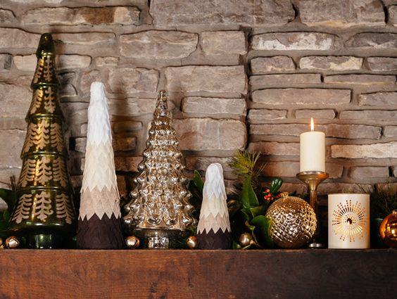 Home for the Holidays: DIY Felt Ombre Trees (http://blog.hgtv.com/design/2013/11/13/diy-ombre-felt-christmas-trees/?soc=pinterest)