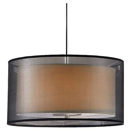 Found it at Wayfair - 3 Light Chandelier in Black & Amber