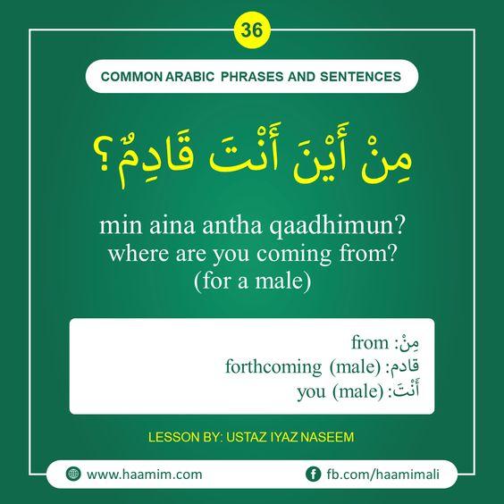 Common Arabic Phrases And Sentences 36 Common Useful Arabic Phrases Sentences Dhivehi E Phrases And Sentences Arabic Phrases English Phrases Sentences