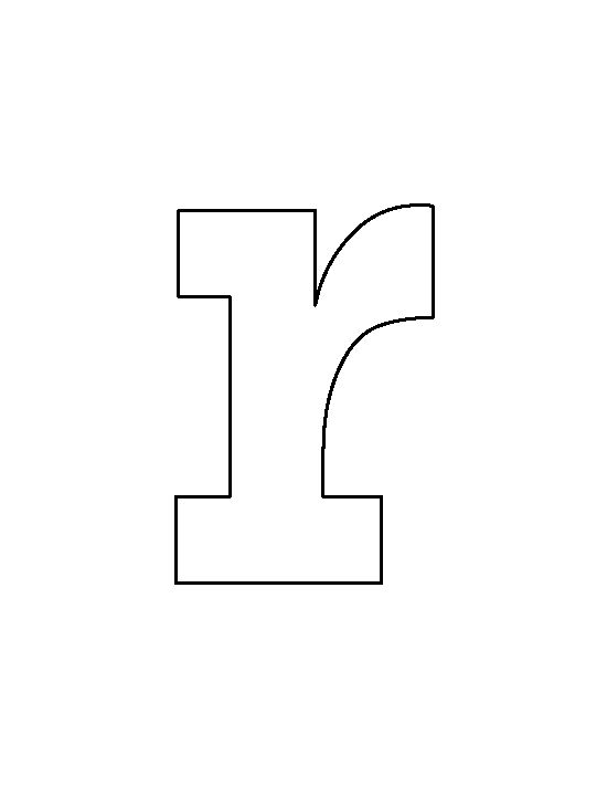 lowercase letter r pattern use the printable outline for