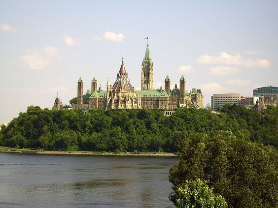 Parliament Hill in Canada's capital, Ottawa.