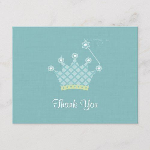 Blue Boys Clown Personalized Childrens Birthday Party Thank You Cards