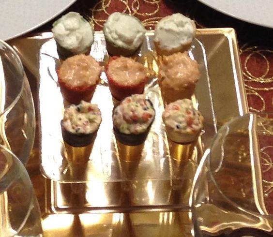 Rellenos Salados Para Lionesas Mini Conos Tartaletas De Hojaldre Etc Las Recetas De Tapas Y Aperitivos Relleno De Tartaletas Saladas Aperitivos Salados