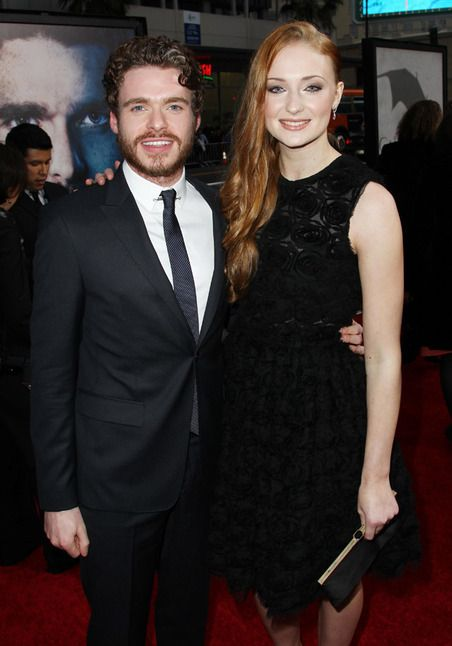 Richard Madden and Sophie Turner of Game of Thrones