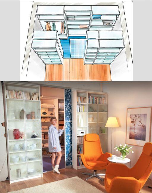 Create a walkin closet    thanks IKEA ähnliche tolle Projekte und Ideen wie im Bild vorgestellt findest du auch in unserem Magazin